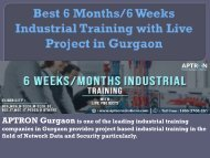 Best 6 Months 6 Weeks Industrial Training in Gurgaon
