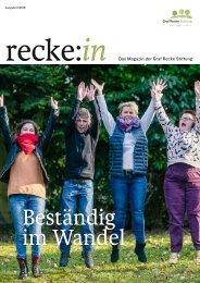 recke:in - Das Magazin der Graf Recke Stiftung Ausgabe 2/2018