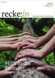 recke:in - Das Magazin der Graf Recke Stiftung Ausgabe 3/2018