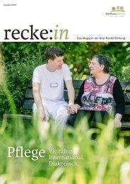 recke:in - Das Magazin der Graf Recke Stiftung Ausgabe 2/2017