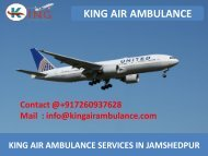 Get Air Ambulance Service in Jamshedpur and Allahabad by King