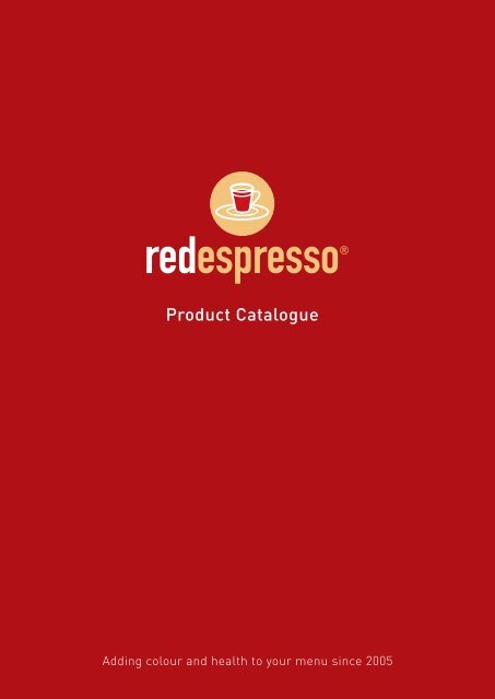 red espresso® product catalogue