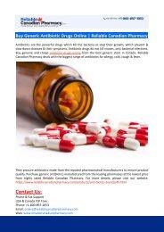 Buy Generic Antibiotic Drugs Online-Reliable Canadian Pharmacy
