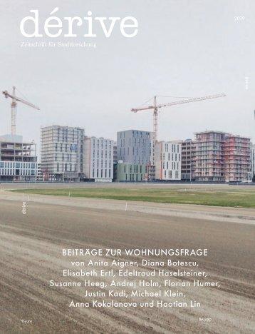 Beiträge zur Wohnungsfrage, dérive Sonderausgabe, Herbst 2019