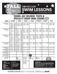 Dovercourt 2019 Fall2 swim flyer