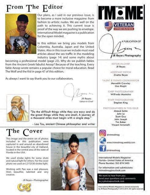 International Model Magazine  November 2019 Vol 5 Issue 5