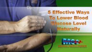 5 Effective Ways To Lower Blood Glucose Level Naturally