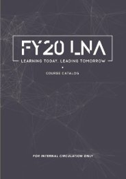 FY 20 Course Catalog