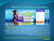 Ultrafast Keto Boost - Perfect Solution To Weight Lose