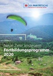 Fortbildungsprogramm PARITÄTISCHE Akademie Nord 2020