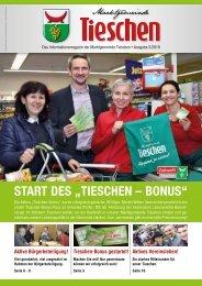 Gemeindezeitung Marktgemeinde Tieschen - Ausgabe 02/2019