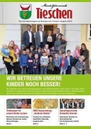 Gemeindezeitung Marktgemeinde Tieschen - Ausgabe 04/2019
