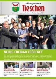 Gemeindezeitung Marktgemeinde Tieschen - Ausgabe 03/2019