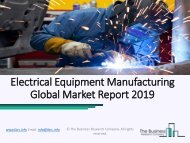Electrical Equipment Manufacturing Market | Latest Trends And Strategies 2019 - 2022