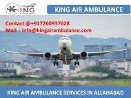 Hire King Air Ambulance Service in Allahabad and Varanasi at Low Cost