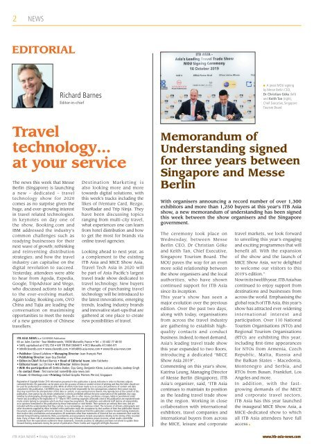ITB Asia News 2019 Day 3 Edition