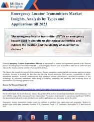 Emergency Locator Transmitters Market Insights, Analysis by Types and Applications till 2023