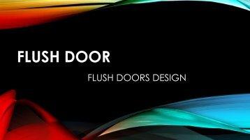 FLUsh Door pdf