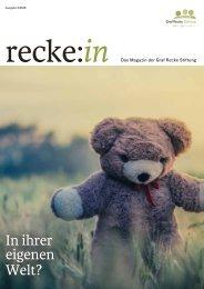 recke:in - Das Magazin der Graf Recke Stiftung Ausgabe 3/2016