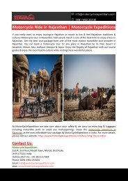 Motorcycle Ride In Rajasthan-Motorcycle Expeditions