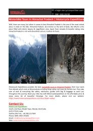 Motorbike Tours in Himachal Pradesh-Motorcycle Expeditions