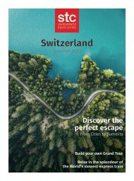 Switzerland Travel Centre - Summer Brochure 2020