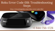 Stuck with Roku Error Code 018 –Call +1 844-756-1728