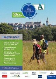 Programmheft zum 70. SGV-Gebirgsfest