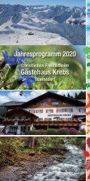 Freizeitheim Krebs - Jahresprogramm 2020