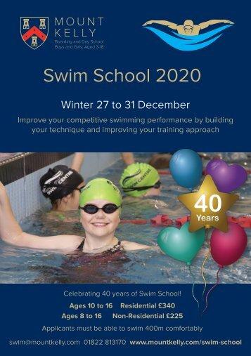 Mount Kelly Swim School 2020