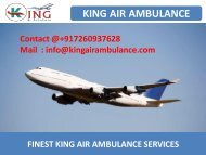 Hire Low-Fare Air Ambulance Service in Bagdogra and Dibrugarh by King