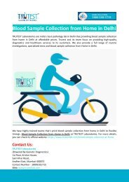 Blood Sample Collection from Home in Delhi
