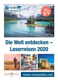 Die Welt entdecken - Leserreisen 2020 Marco Polo
