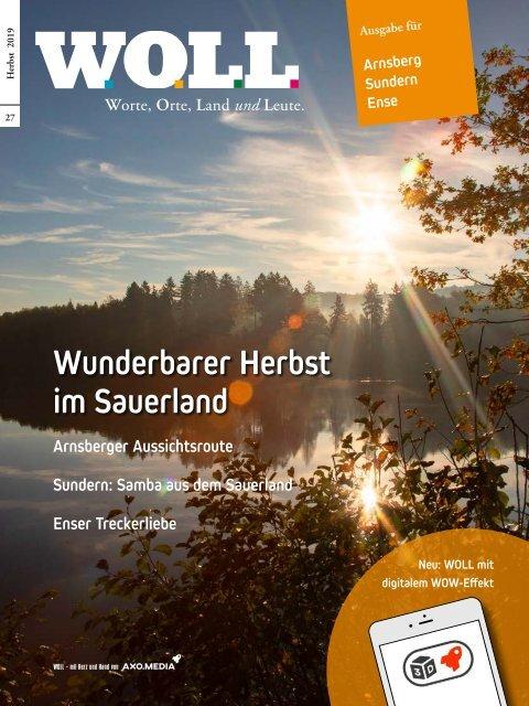 WOLL Magazin Meschede Bestwig Olsberg Herbst 2019 Sauerland