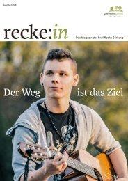recke:in - Das Magazin der Graf Recke Stiftung Ausgabe 4/2016