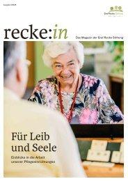 recke:in - Das Magazin der Graf Recke Stiftung Ausgabe 3/2015
