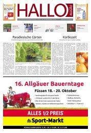 Hallo-Allgäu Memmingen vom Samstag, 19.Oktober