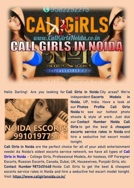 Escorts In Noida | High Profile Call Girls Noida | Luxury Services