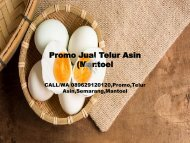 CALL/WA 089629120120,Promo,Telur Asin,Semarang,MantoelF