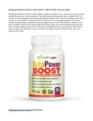 Healthygen KetoPower Boost Side Effects