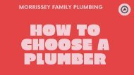 how to choose a plumber