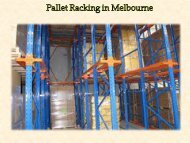 Pallet Racking in Melbourne