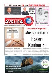 EUROPA JOURNAL / HABER AVRUPA