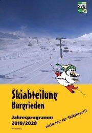 2019-2020 Jahresprogramm Skiabteilung Burgrieden