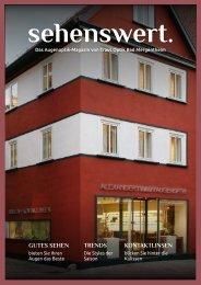 Sehenswert Magazin Traut Optik Bad Mergentheim
