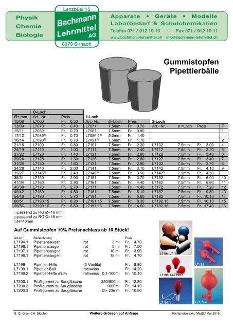 Glaswaren | Bachmann Lehrmittel