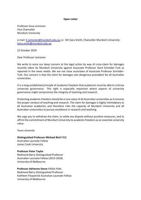 Open Letter Re Gerd Schroder-TurkforsDistribution