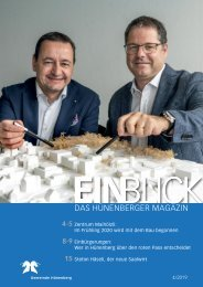 Hünenberger Magazin EINBLICK