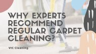 Why Experts Recommend Regular carpet cleaning?