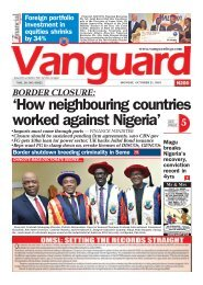 21102019 -  BORDER CLOSURE:'How neighbouring countries worked against Nigeria'